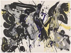 "Sam Francis, ""For Miró I,"" 1963, lithograph."