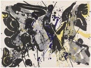 "Sam Francis, ""For Miró I,"" 1963, lithograph."